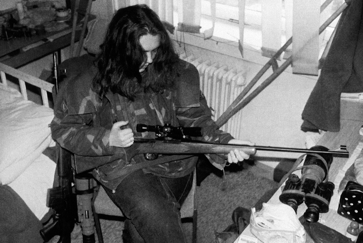 During the Balkan crisis, civilians had a role in countering snipers.